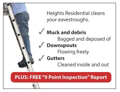 gutter cleaning 9-point inspection